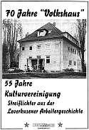 70 Jahre »Volkshaus« 55 Jahre Kulturvereinigung (Titelseite)