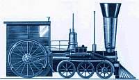 US-Amerikanische Schnellzug-Lokomotive (1848)